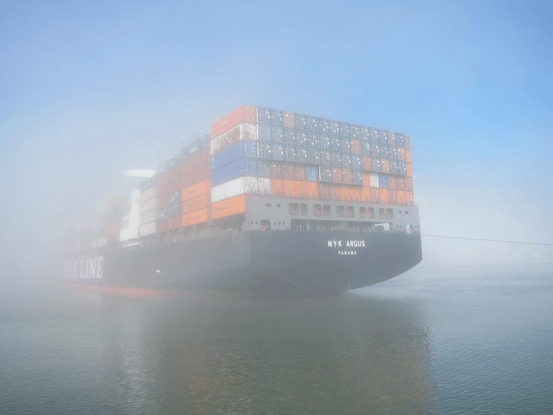 shipping delays by fog